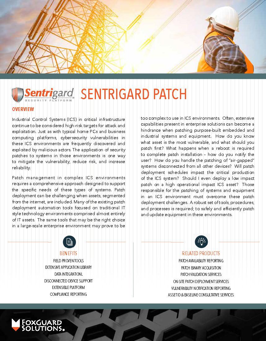 Patch Management Data Sheet Sentrigard